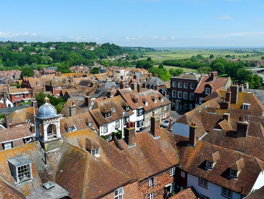 View from St Mary's Church Tower, Rye