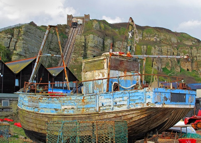 Old fishing boat on the Stade