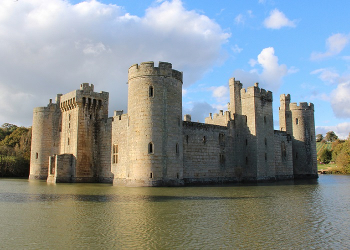 Bodiam Castle with its fabulous moat.