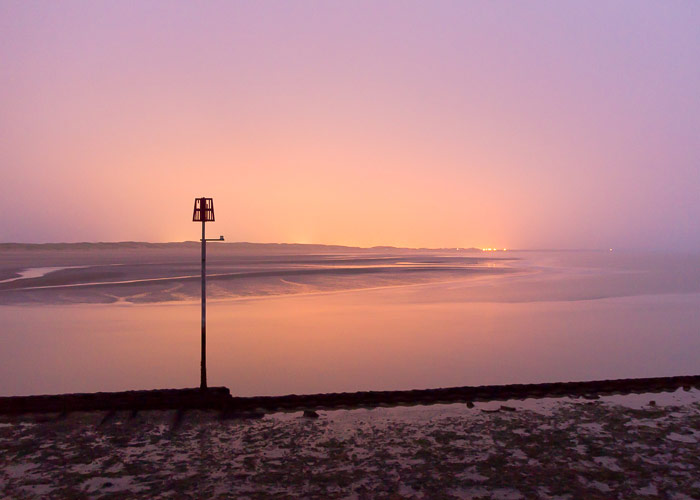 First light over Camber. Misty morning walks are the best!